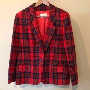 Vintage 70's Pendleton blazer red plaid 14 jacket